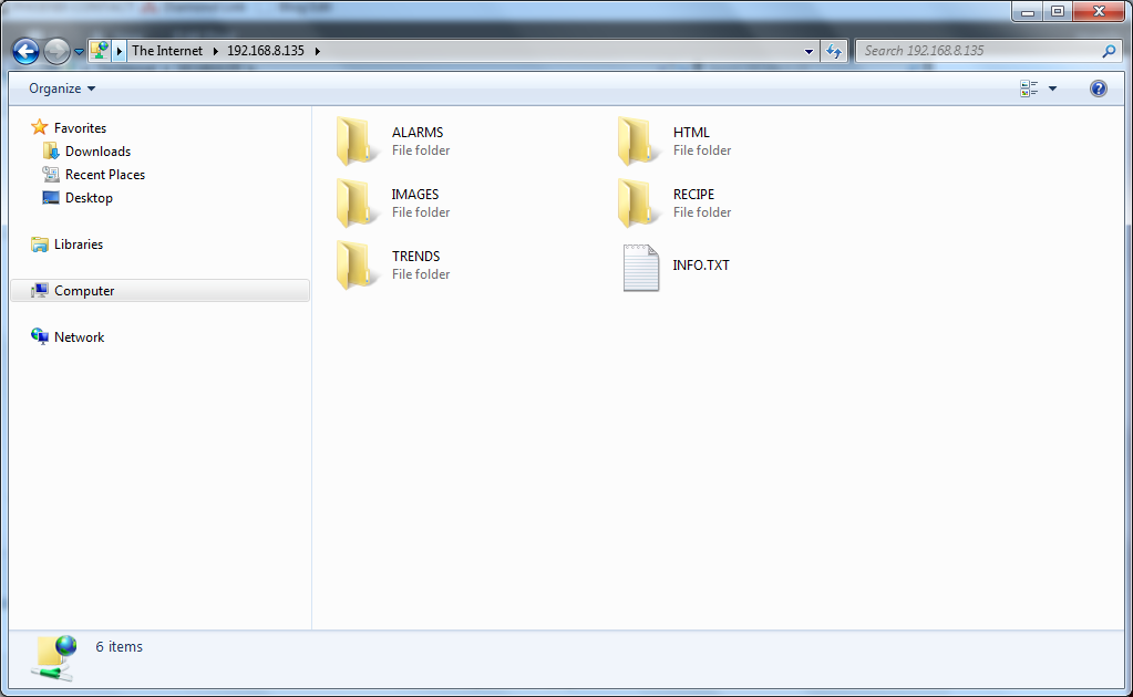 E1000 Windows explorer FTP Step 4